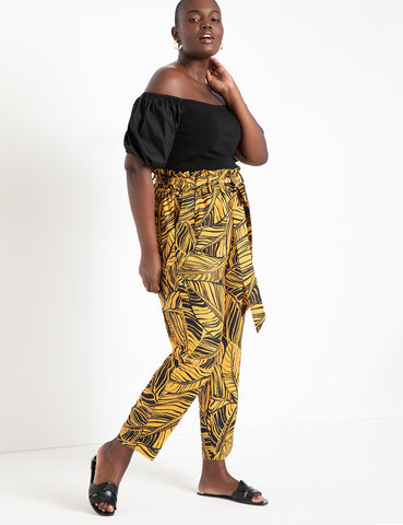Ruffle Waist Pant in Oasis Nights