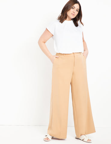 Wide Leg Pant in Tan
