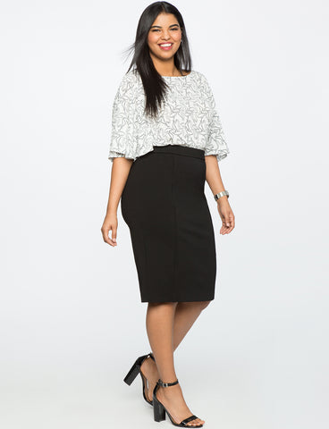 9-To-5 Stretch Work Skirt in Black