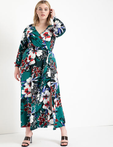 Printed Kimono Dress in Early Bloomers