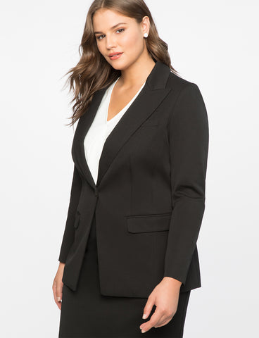 Premier Bi-Stretch Work Blazer in Black