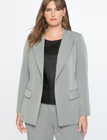 Premier Bi-Stretch Work Blazer in Heather Grey