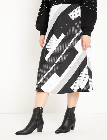 Printed Midi Skirt in Dots Your Size