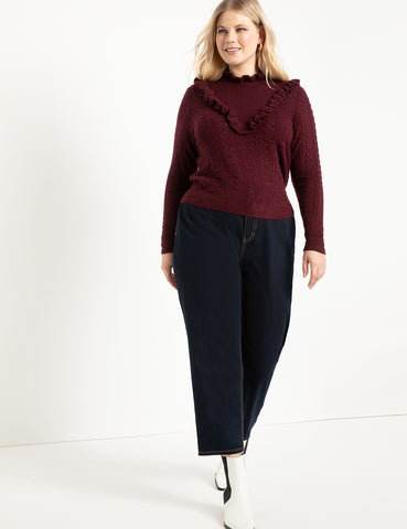 Open Stitch Sweater in Port Royal