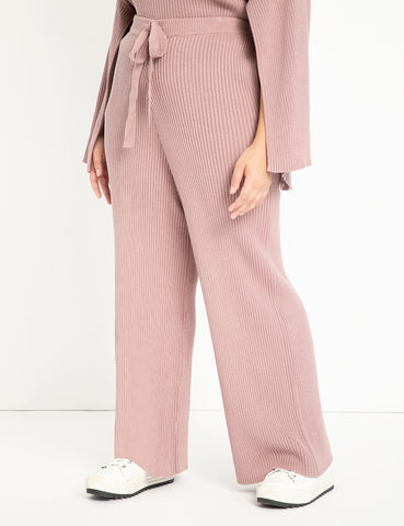 Wide Leg Sweater Pant in Woodrose