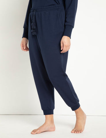 Jogger with Tassel Detail in Navy