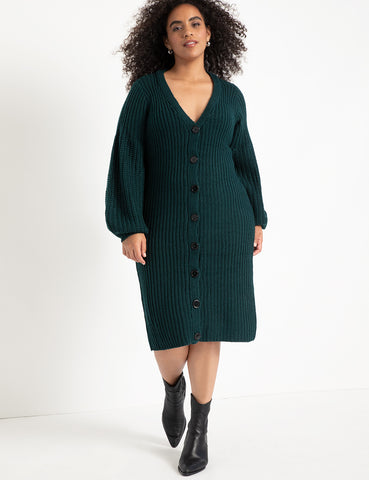 Cardigan Sweater Dress in Zermadame