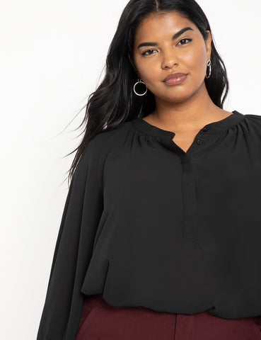 Raglan Sleeve Top in Black