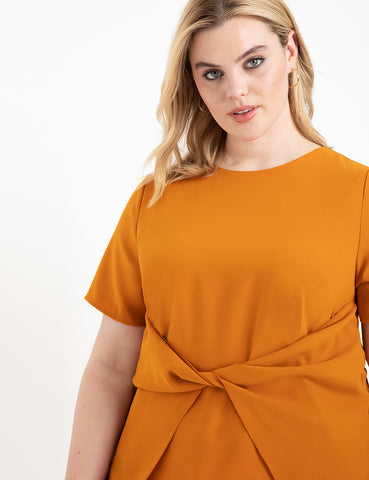 Knot Front Top in Pumpkin Spice