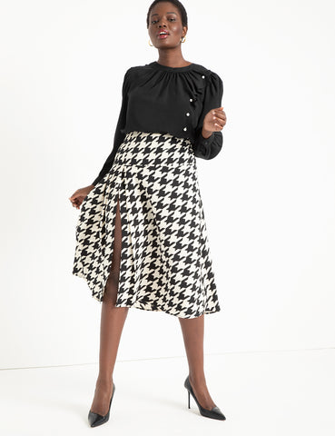 Printed Midi Skirt with Pleats in Suits You