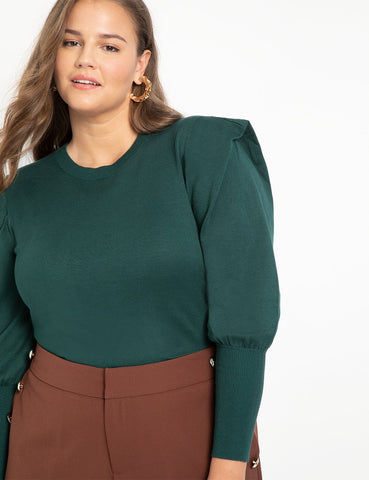 Pleated Sleeve Sweater in Zermadame