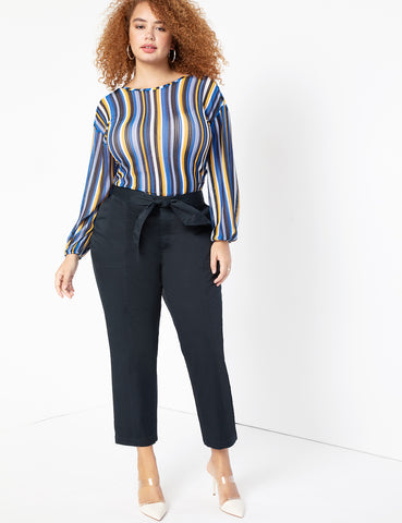 Tie Waist Pant in Sky Captain