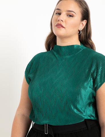 Textured Sleeveless Top in Ivy Veil