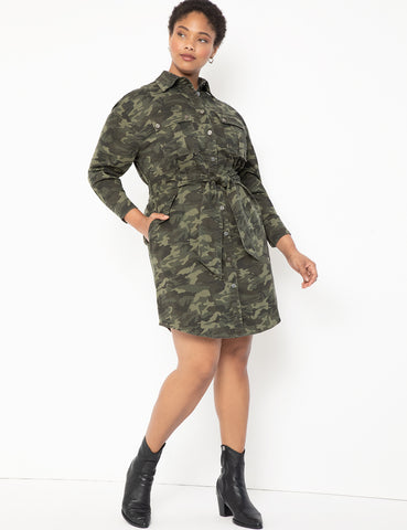 Belted Camo Dress in Camo