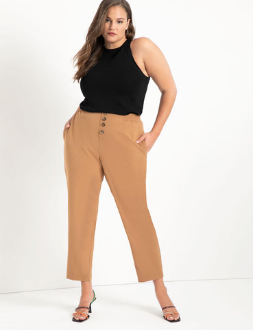 Button Fly Pant in Neutral