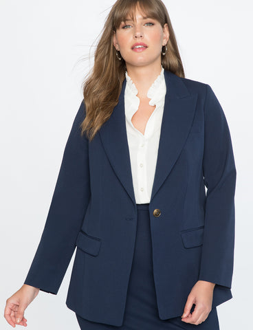 Premier Bi-Stretch Work Blazer In Peacoat