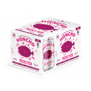 Honcho Spiked Agua Fresca - Prickly Pear 6pk 12oz Cans (includes CRV)