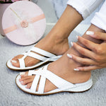 Load image into Gallery viewer, Women Casual Comfy Toe Ring Criss-Cross Sandals Shoes