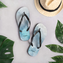 Load image into Gallery viewer, To Dye For Sky Unisex Flip-Flops
