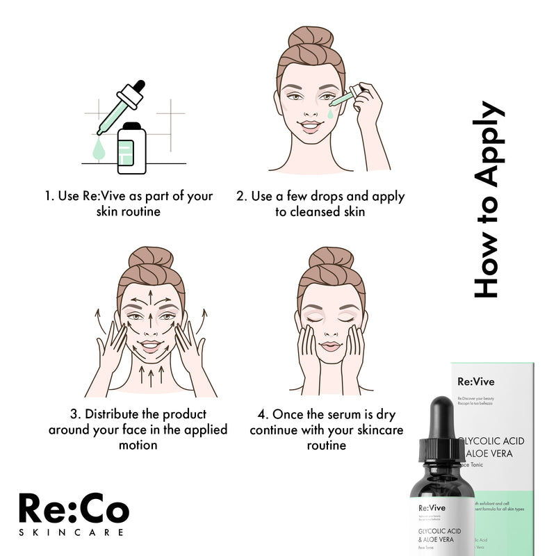 Re:Vive Glycolic Acid + Aloe Vera Face Tonic