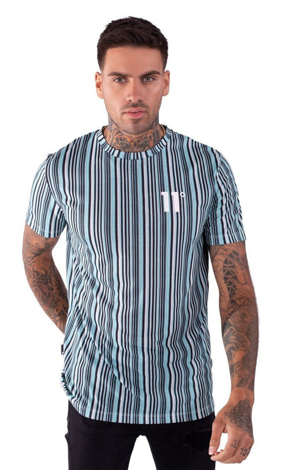 Camiseta 11 Degrees Aqua Stripe - D10 Store
