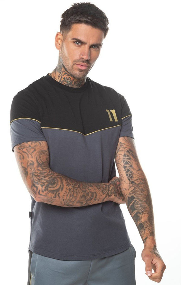 Camiseta 11 Degrees Negra Antracita - D10 Store