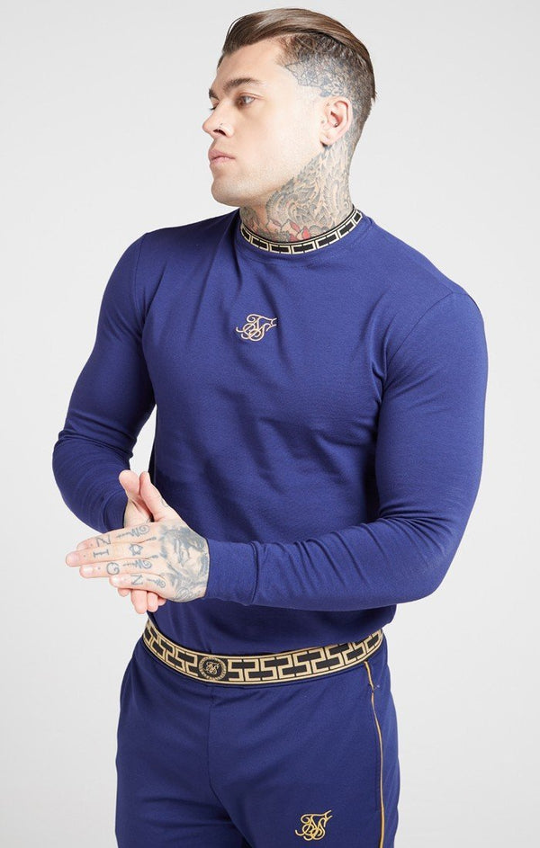 Camiseta SikSilk Cartel Collar Azul - D10 Store