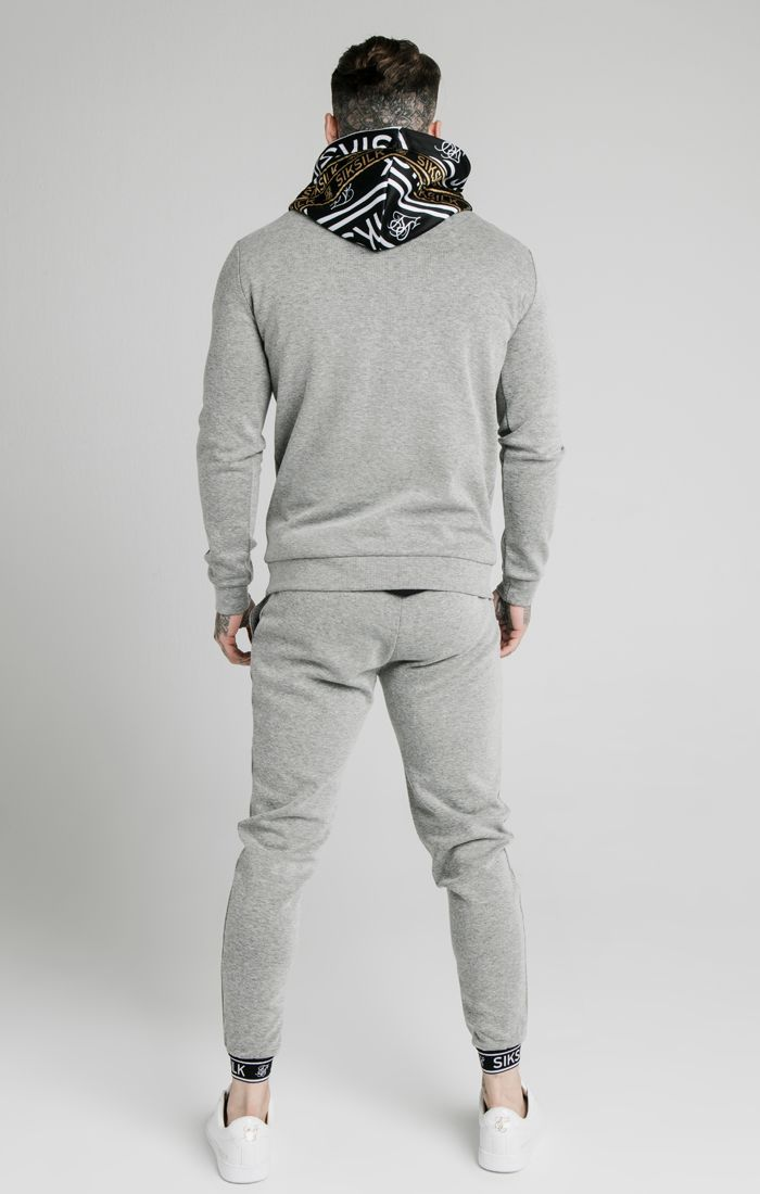 Conjunto Completo SikSilk Ribbed Gris - D10 STORE