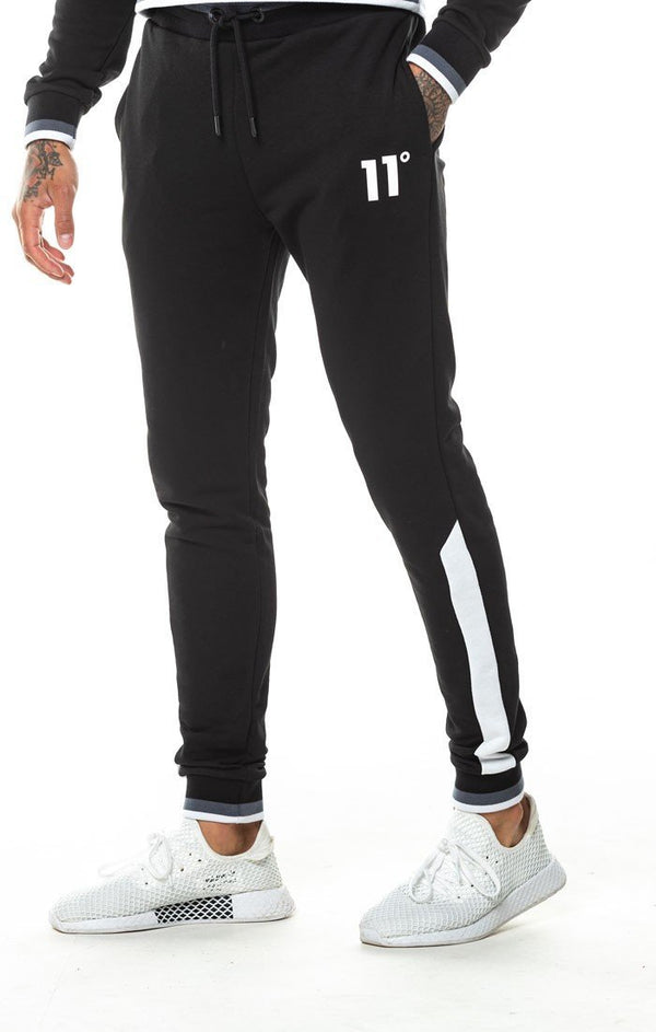 Pantalón 11 Degrees Negro Ribbed - D10 Store
