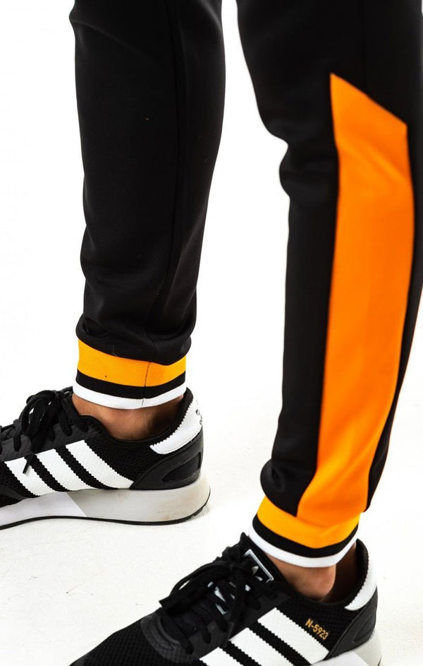 Pantalón 11 Degrees Negro Ribbed Naranja - D10 Store