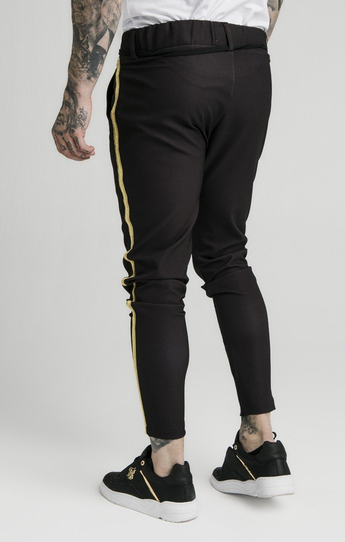 Pantalón SikSilk Fitted Negro - D10 Store
