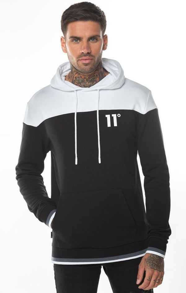 Sudadera 11 Degrees Negra Ribbed - D10 Store