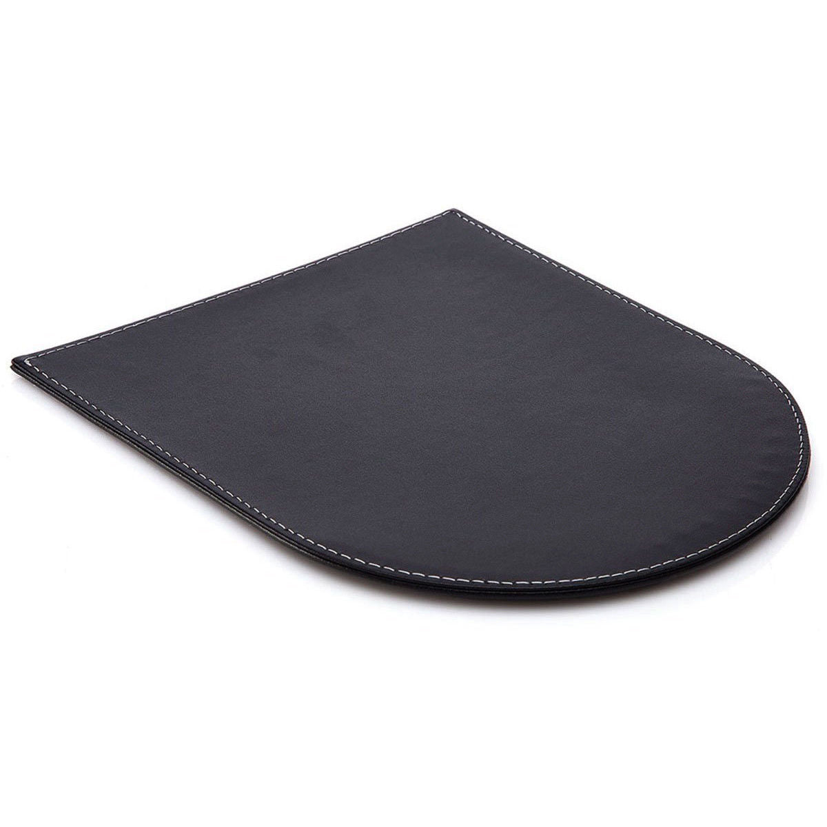 Premium Black Synthetic PU Leather Ergonomic Mouse Pad with Wrist Rest Support