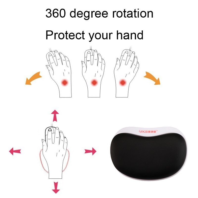 Ergonomic Healthy Wrist Protect Pulley Mouse Pad Soft Comfortable Memory Foam