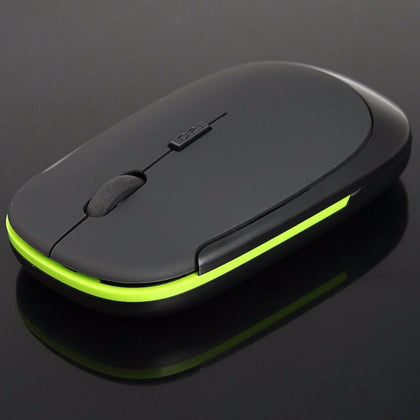 Thin 2.4GHz Slim Optical Wireless Mouse Mice + USB 2.0 Receiver for Laptop