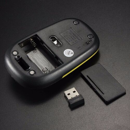 Green 2.4GHz Ultra-Slim Mini USB Wireless Computer PC Optical Mouse - AU Stock