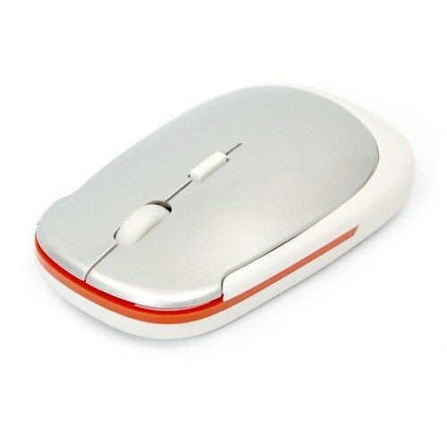 White 2.4G Mini Thin Wireless Optical Slim Mouse Mice USB Receiver for PC Laptop