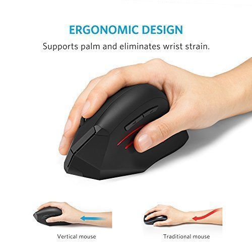 Ergonomic Design Optical Vertical USB 1000/1500/2000DPI Mouse Wrist Pain Healing