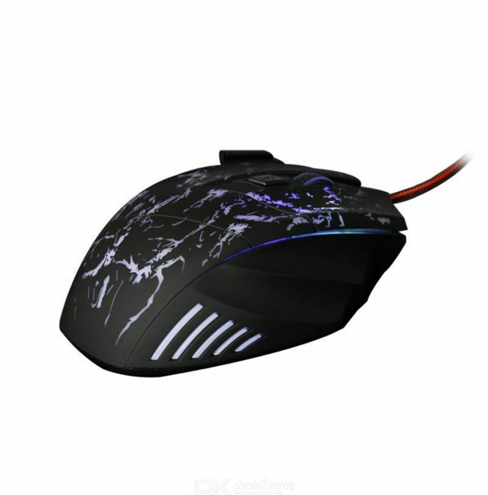 5500 DPI 7 Buttons 7 Colors LED Optical USB Wired Gaming Computer PC Mouse Mice