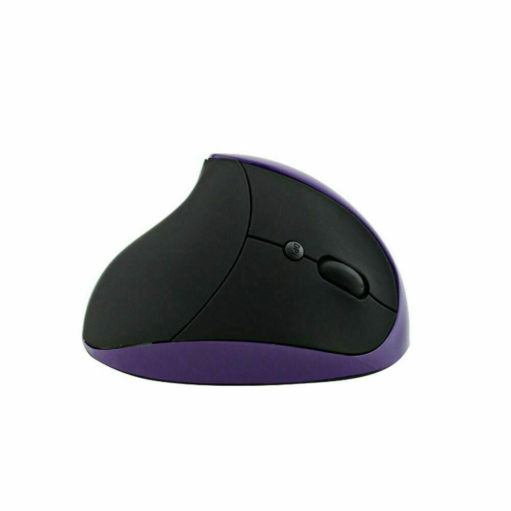 Wireless Ergonomic Mouse 2.4G High Precision Vertical Optical Mouse (Purple)