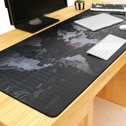90 x 40cm Large World Map Mousepad Game Laptop Computer Keyboard Mouse Pad Mat