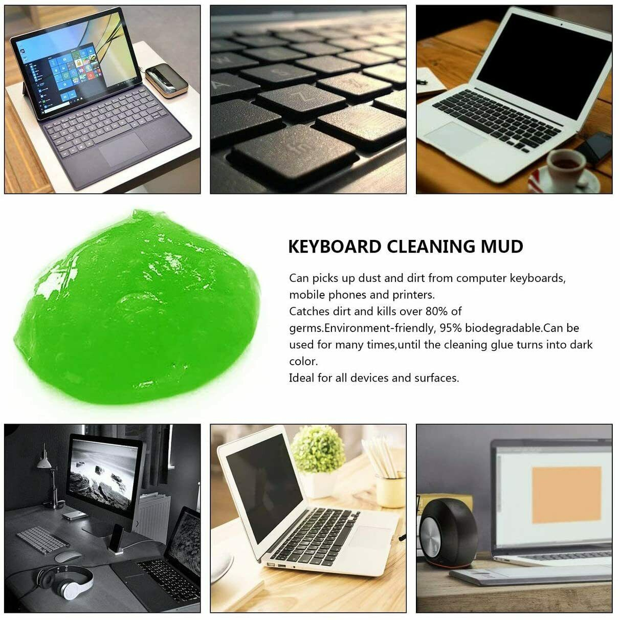 1 x Dust Dirt Cleaning Compound Gel Clean Magic Car Keyboard Home Dust Cleaner