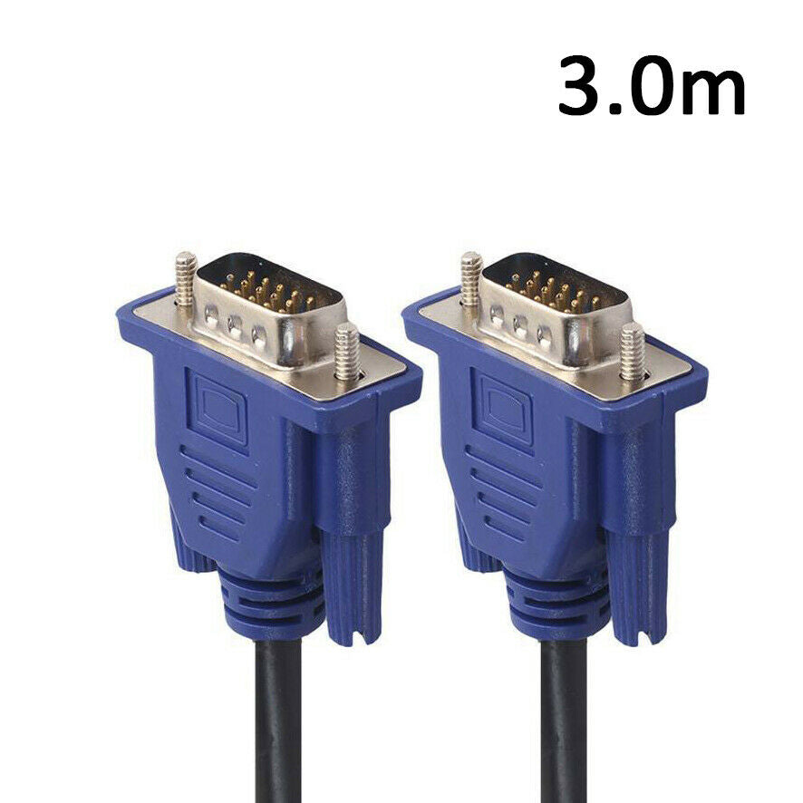 3M VGA SVGA 15pin Male to Male Extension PC Monitor LCD TV Cable AU