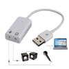 External USB 2.0 Virtual 7.1 Channel 3D Audio Sound Card White Converter Adapter
