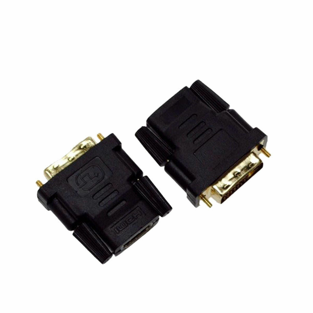 DVI Male 24+1 To HDMI Female Plug Converter Socket Adapter for HDTV Gold Plated
