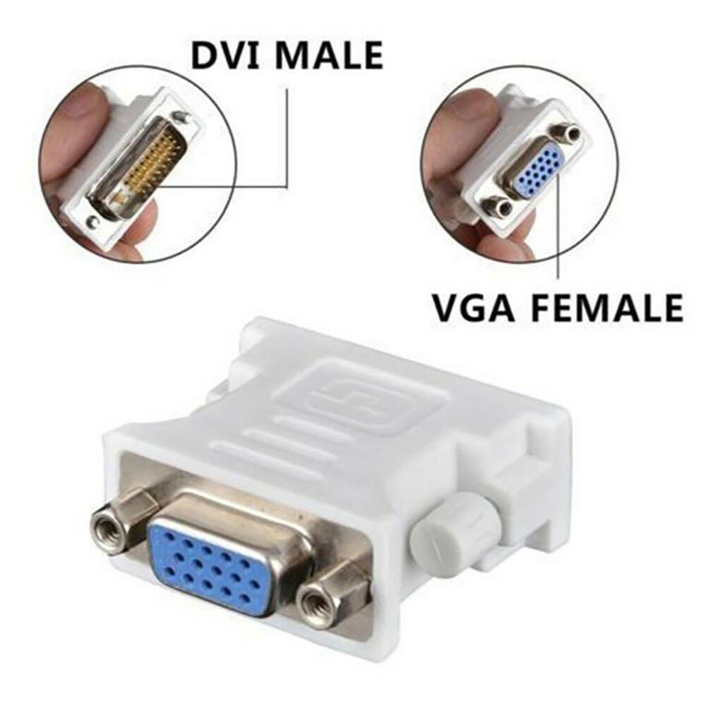 24+1 DVI Male to VGA 15Pin Female Adapter Socket Monitor Converter Connector