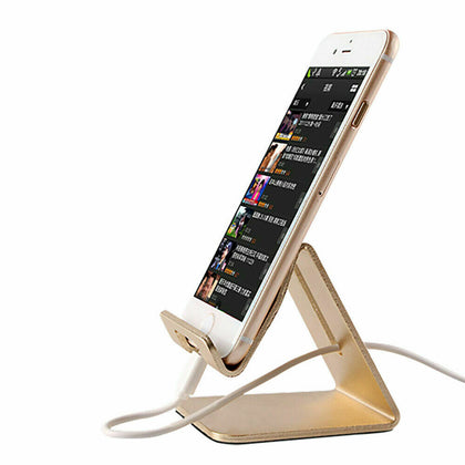 Gold Aluminum Alloy Mobile Phone Desktop Stand Holder for iPad iPhone Mobile Phone AU