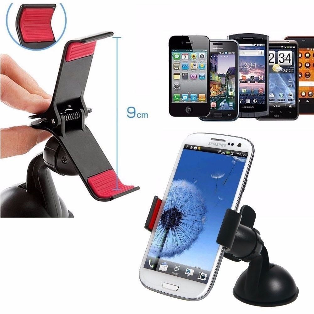 Universal 360° Mount Car Holder Phone For Samsung Galaxy Note S 5 4 3 Iphone OZ