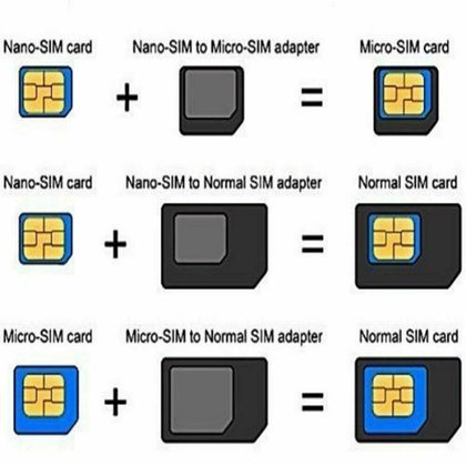 SIM Adapter Converter & SIM Pin Ejector Convert From Nano To Micro To Standard