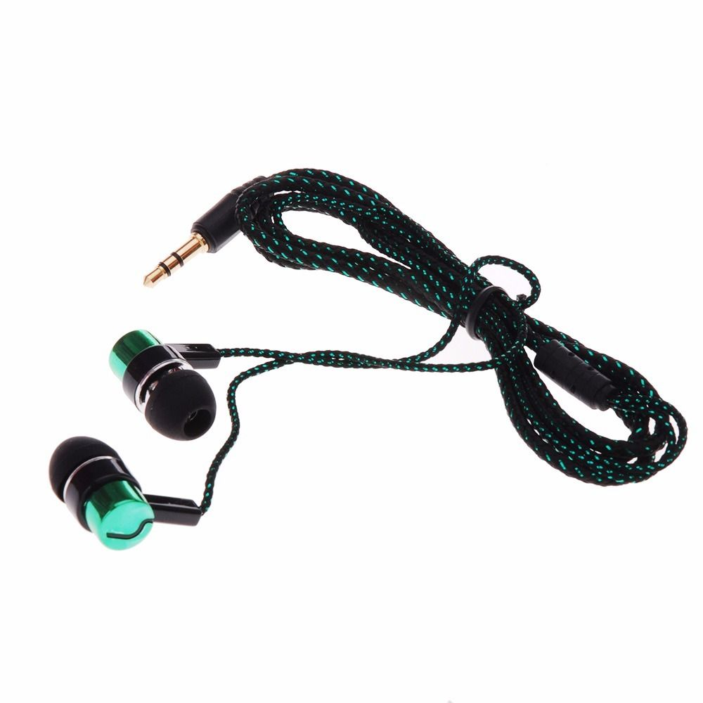 Green - 3.5mm Jack In-Ear Piston Earphone Headphone Headset Earbuds for Mp3 Mp4 PC Phone